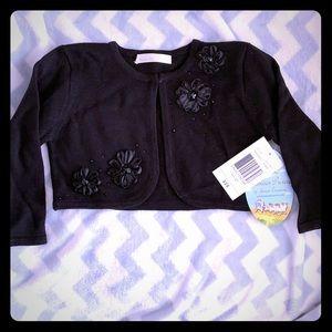Dressy Black Sweater-Girl's